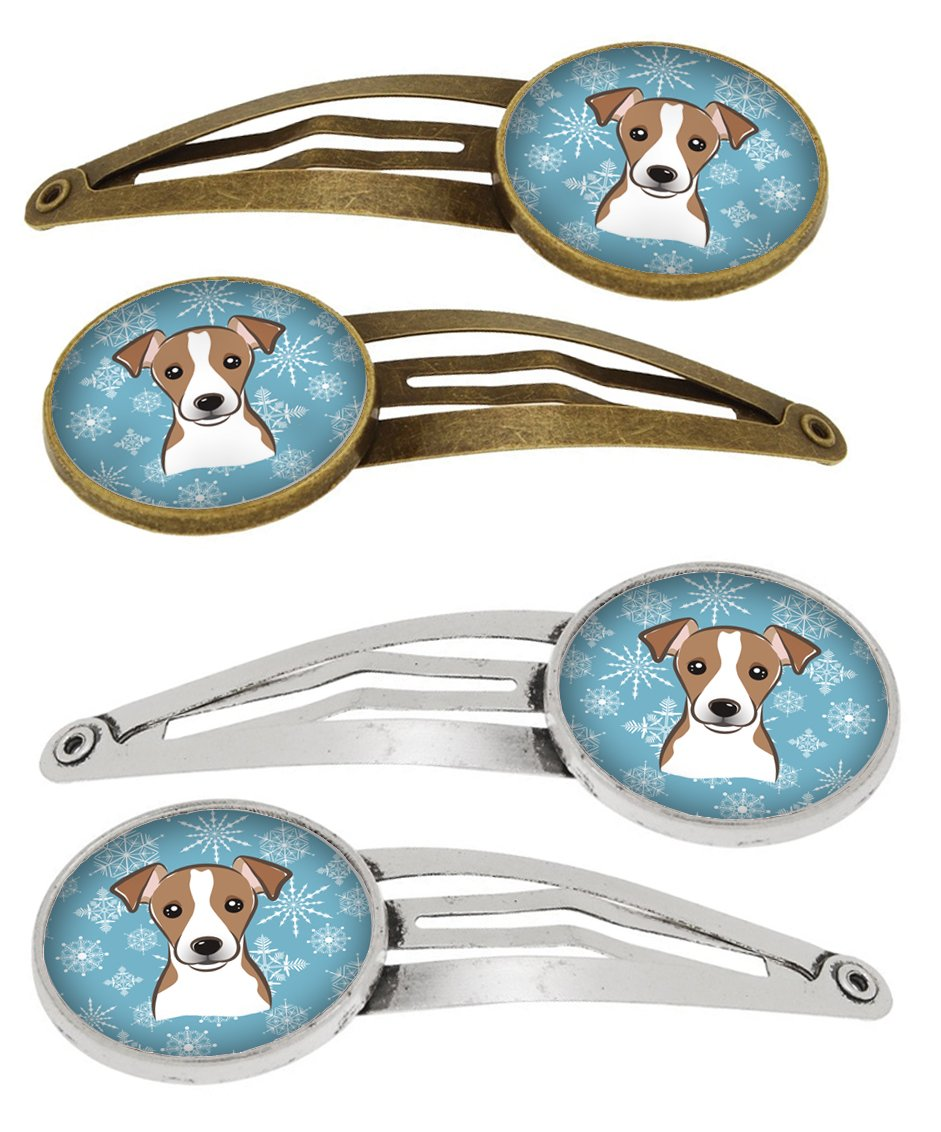 Snowflake Jack Russell Terrier Set of 4 Barrettes Hair Clips BB1694HCS4 by Caroline's Treasures