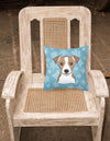 Snowflake Jack Russell Terrier Fabric Decorative Pillow BB1694PW1414
