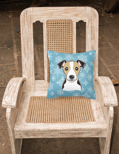 Snowflake Jack Russell Terrier Fabric Decorative Pillow BB1695PW1414