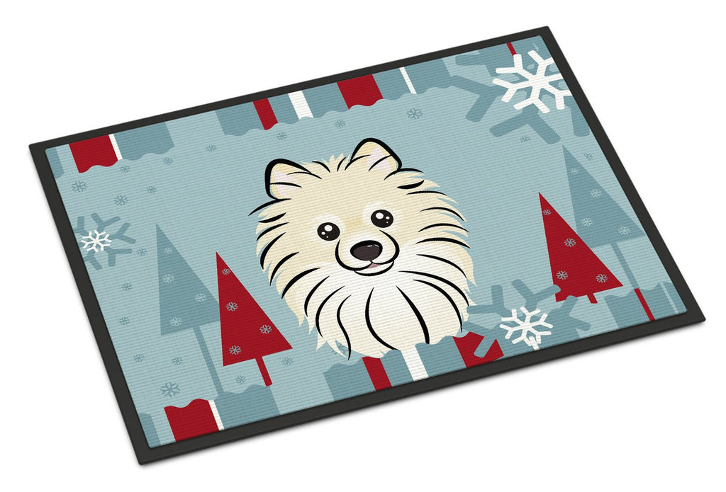 Buy this Winter Holiday Pomeranian Indoor or Outdoor Mat 18x27 BB1703MAT