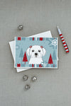 Winter Holiday Maltese Greeting Cards and Envelopes Pack of 8 - the-store.com