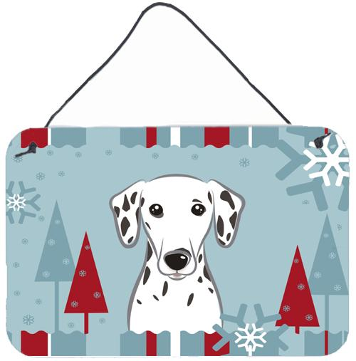 Winter Holiday Dalmatian Wall or Door Hanging Prints BB1706DS812 by Caroline's Treasures