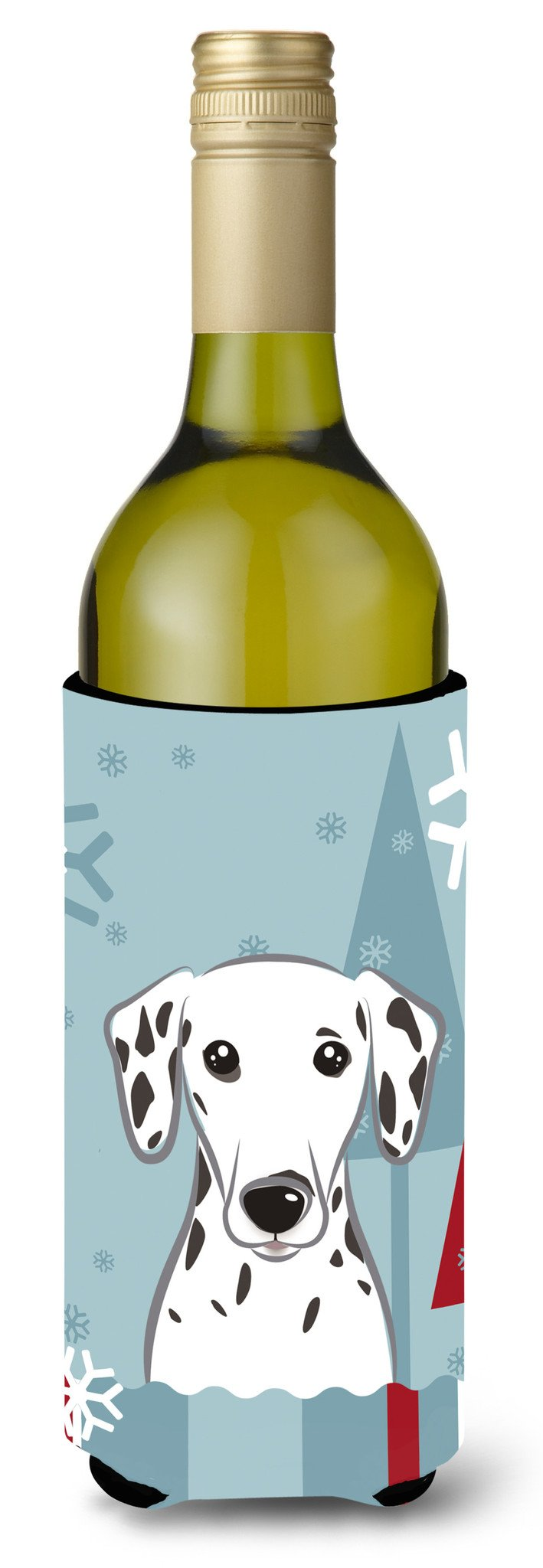 Winter Holiday Dalmatian Wine Bottle Beverage Insulator Hugger BB1706LITERK by Caroline's Treasures