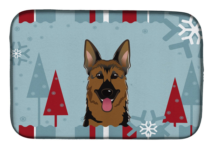 Buy this Winter Holiday German Shepherd Dish Drying Mat BB1707DDM