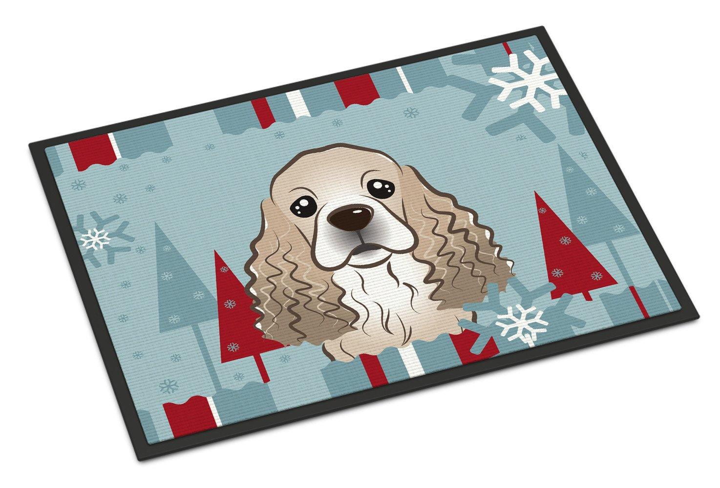 Winter Holiday Cocker Spaniel Indoor or Outdoor Mat 18x27 BB1712MAT - the-store.com
