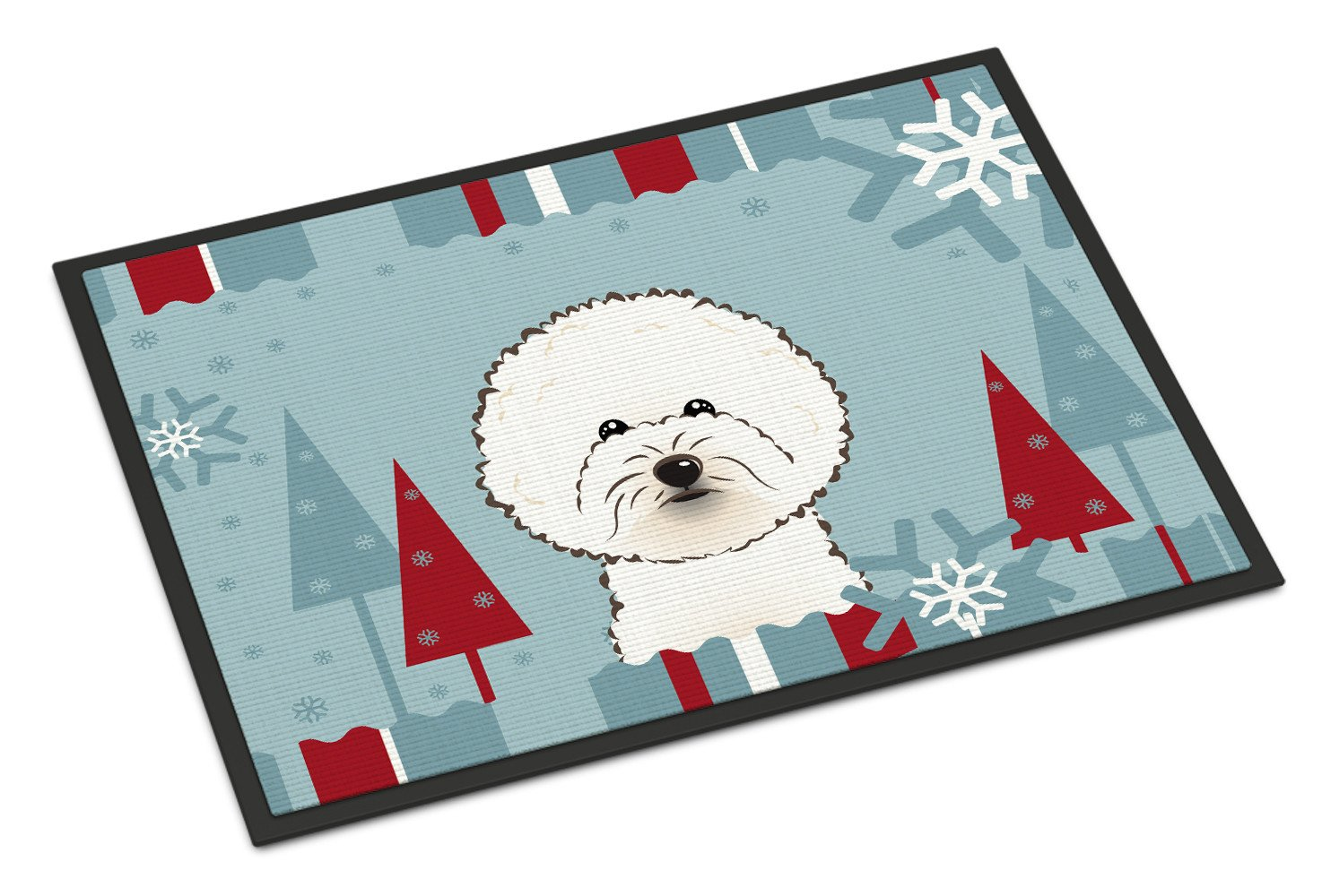 Winter Holiday Bichon Frise Indoor or Outdoor Mat 18x27 BB1713MAT - the-store.com