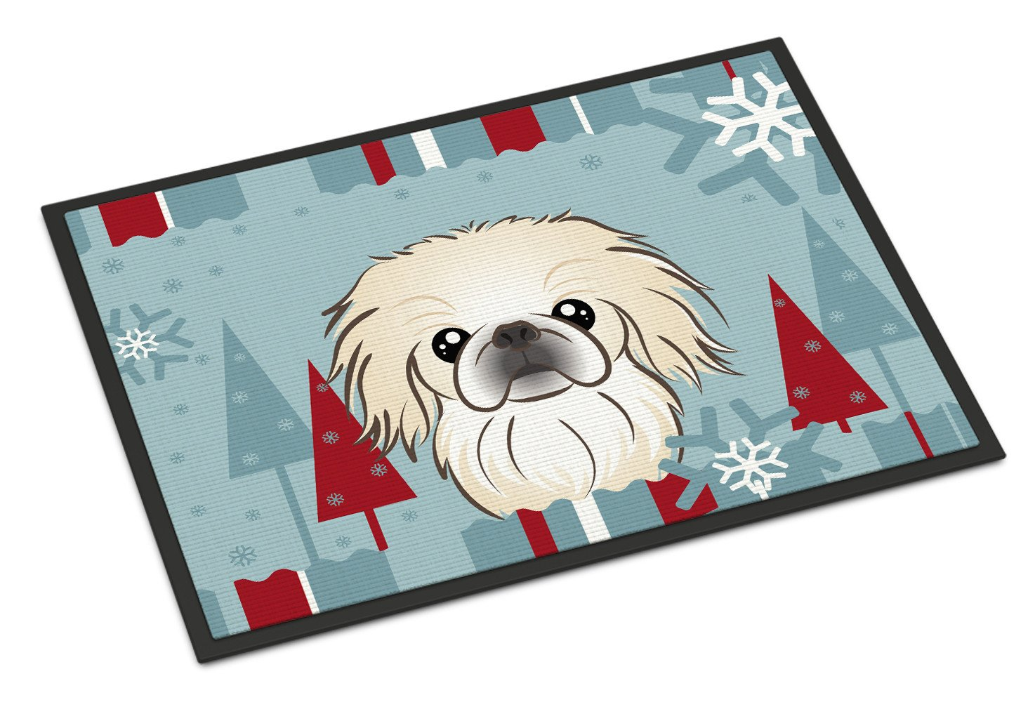 Winter Holiday Pekingese Indoor or Outdoor Mat 18x27 BB1717MAT - the-store.com