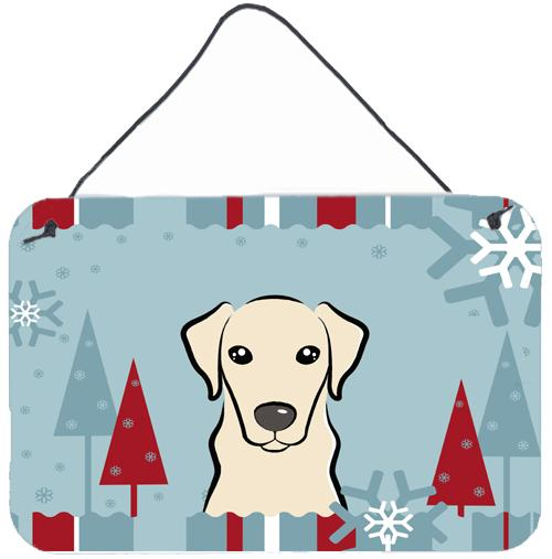 Buy this Winter Holiday Yellow Labrador Wall or Door Hanging Prints BB1718DS812