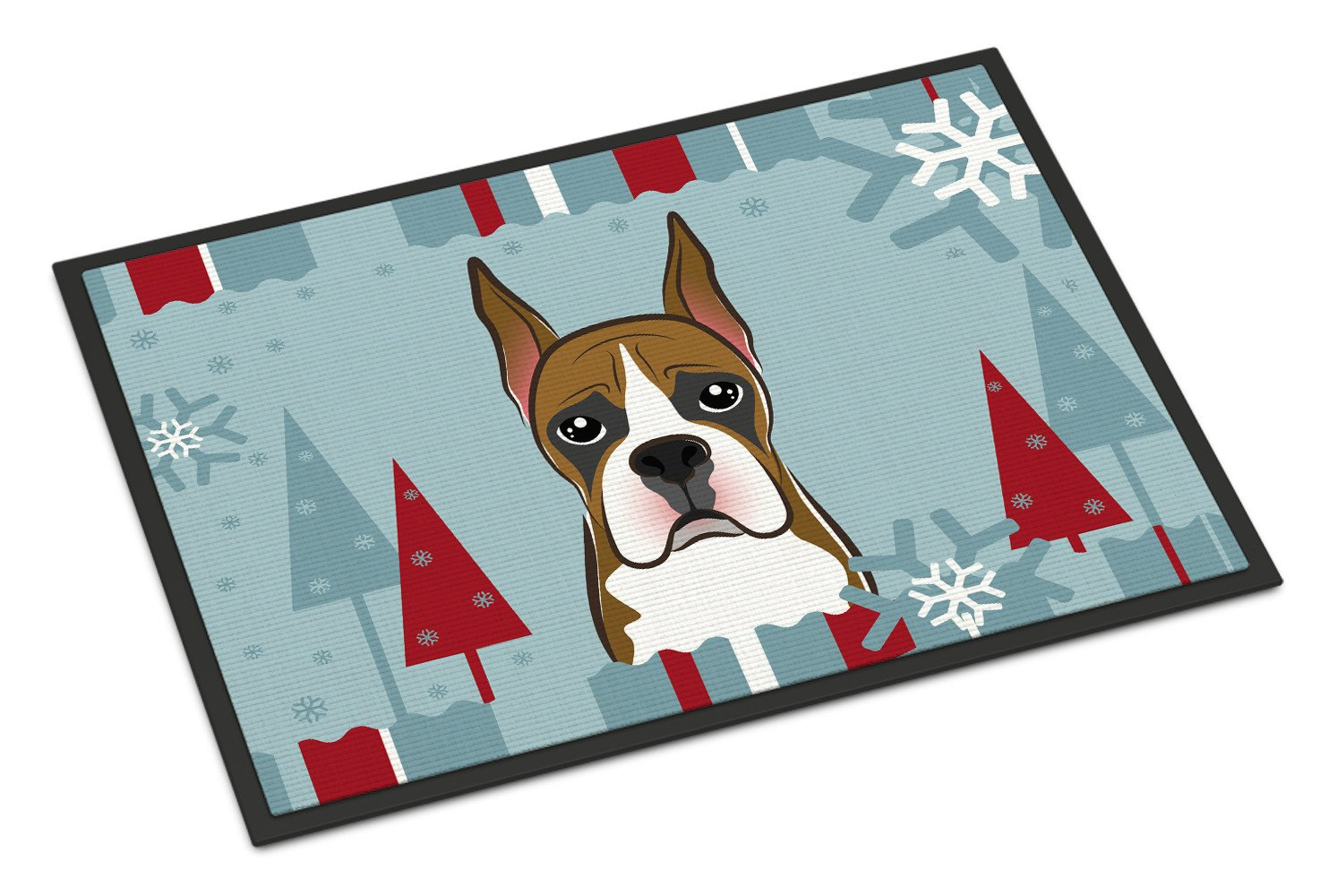 Winter Holiday Boxer Indoor or Outdoor Mat 18x27 BB1719MAT - the-store.com