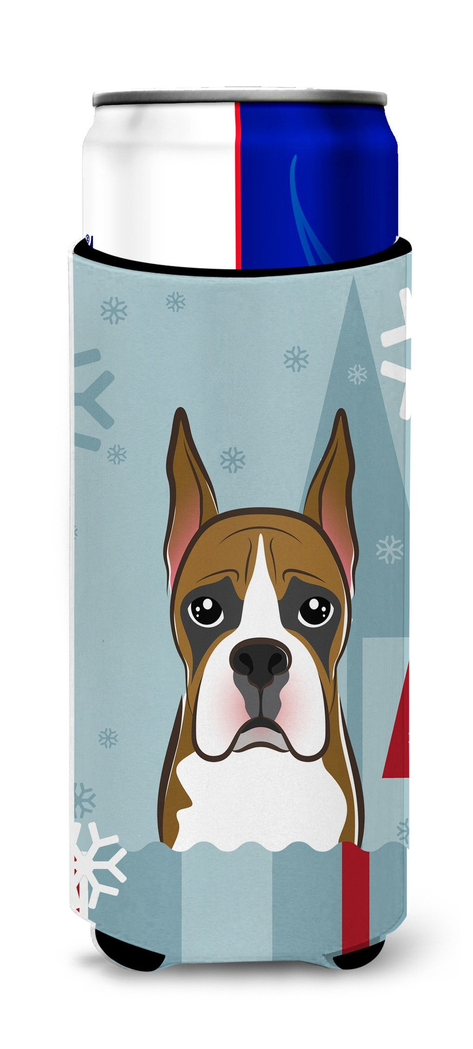 Winter Holiday Boxer Ultra Beverage Insulators for slim cans BB1719MUK by Caroline's Treasures