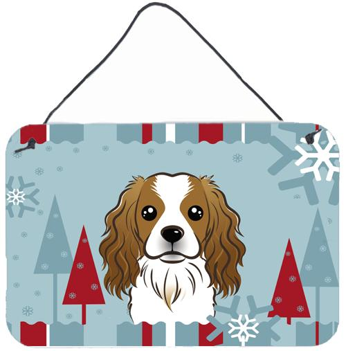Buy this Winter Holiday Cavalier Spaniel Wall or Door Hanging Prints BB1720DS812