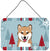 Winter Holiday Shiba Inu Wall or Door Hanging Prints BB1721DS812 by Caroline's Treasures