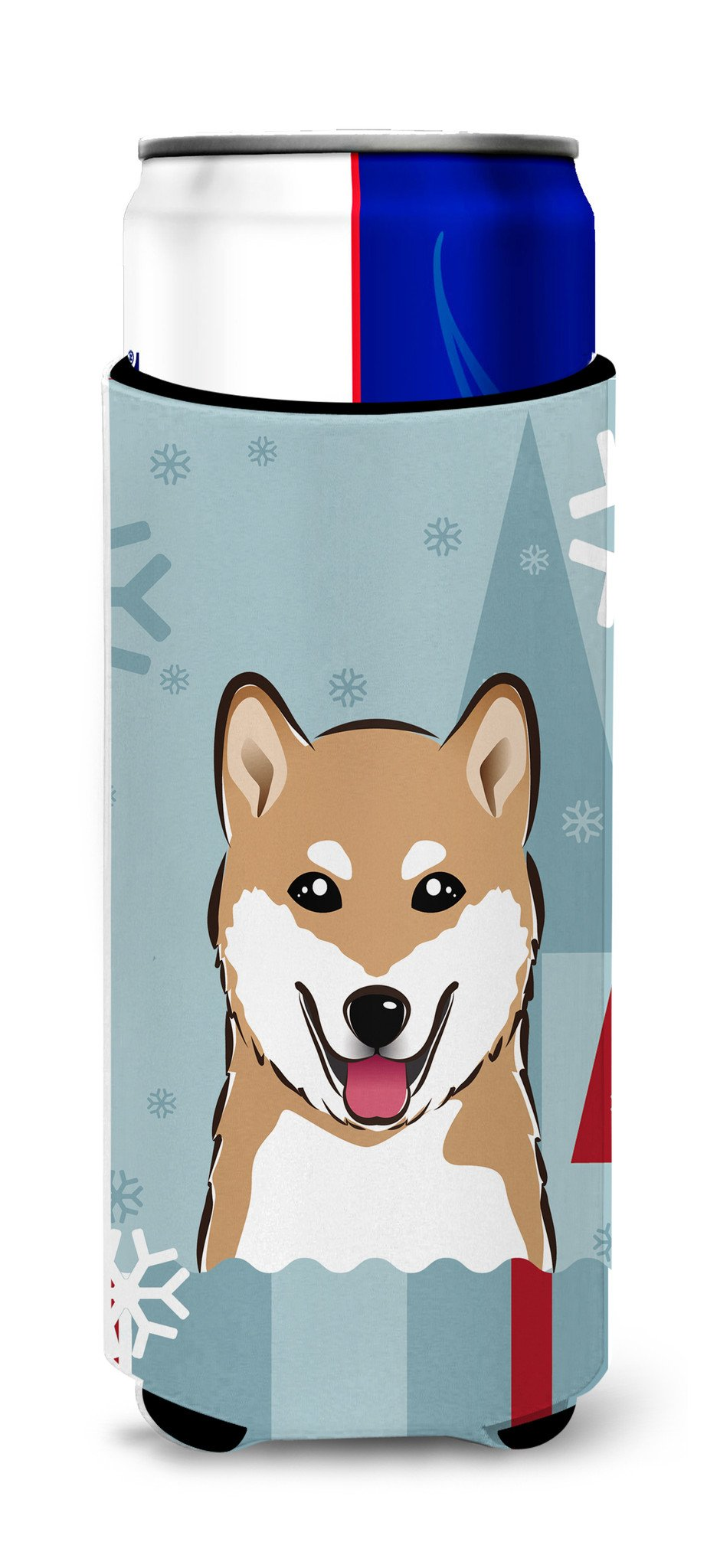 Winter Holiday Shiba Inu Ultra Beverage Insulators for slim cans BB1721MUK by Caroline's Treasures
