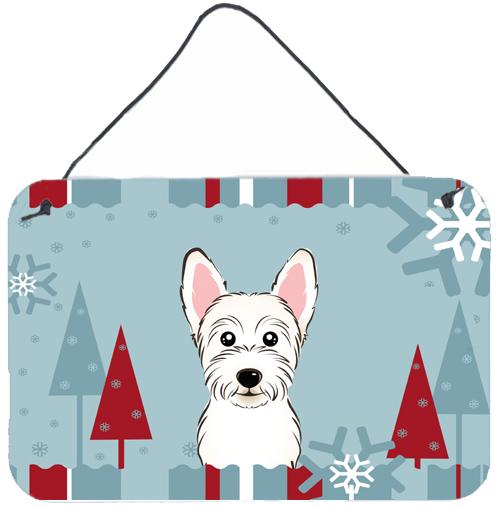 Buy this Winter Holiday Westie Wall or Door Hanging Prints BB1722DS812