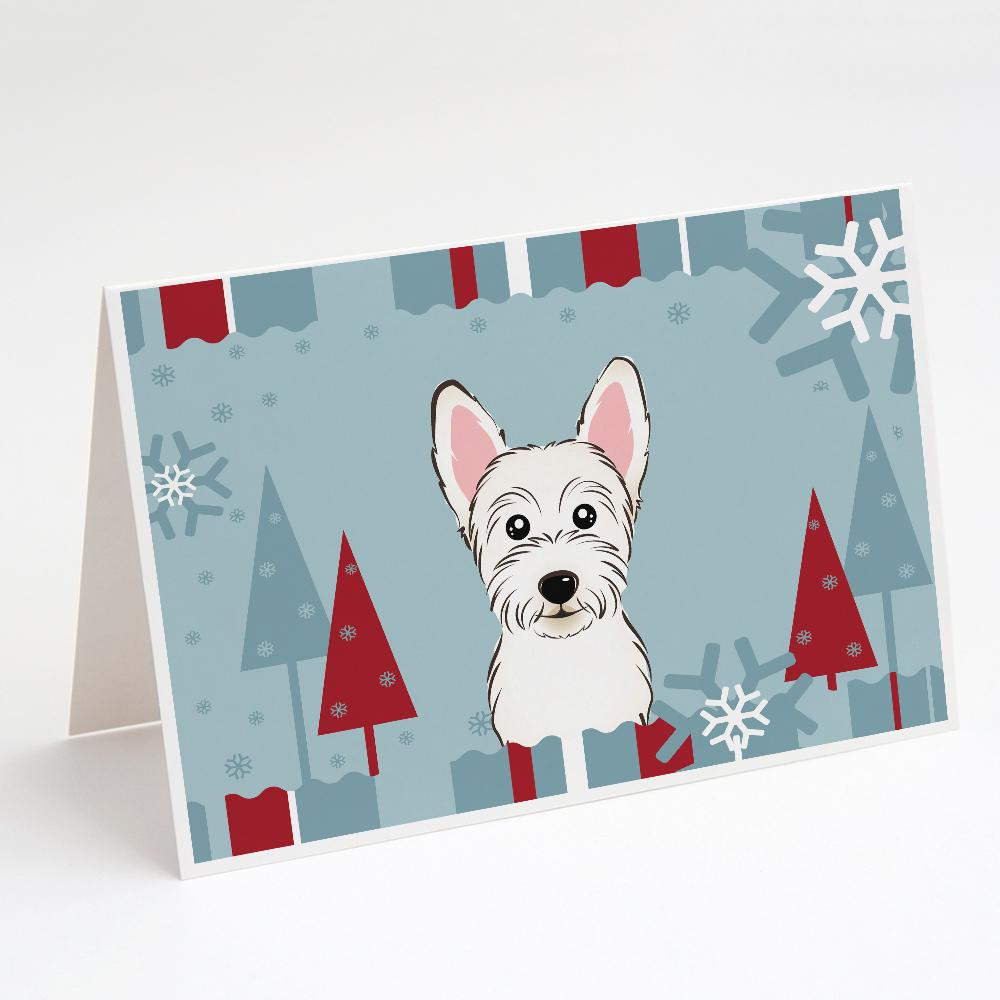 Buy this Winter Holiday Westie Greeting Cards and Envelopes Pack of 8