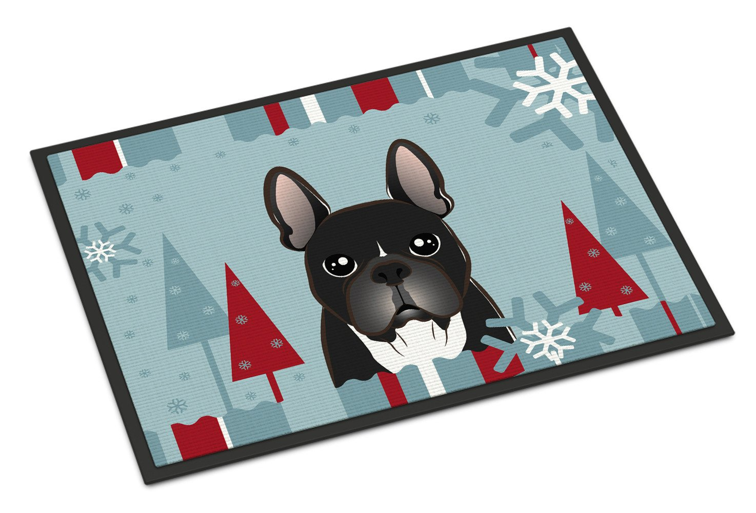 Winter Holiday French Bulldog Indoor or Outdoor Mat 18x27 BB1723MAT - the-store.com