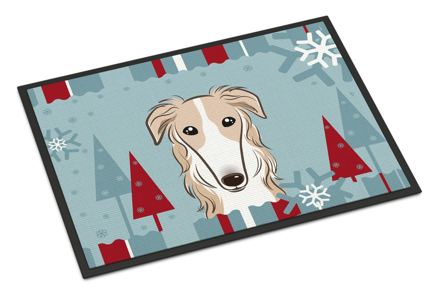 Winter Holiday Borzoi Indoor or Outdoor Mat 18x27 BB1724MAT - the-store.com