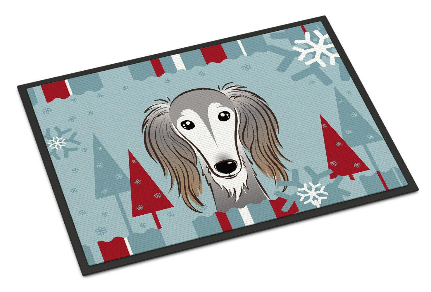 Winter Holiday Saluki Indoor or Outdoor Mat 18x27 BB1725MAT - the-store.com