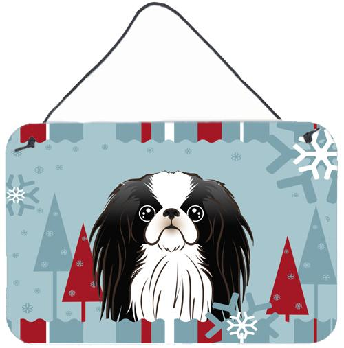 Winter Holiday Japanese Chin Wall or Door Hanging Prints BB1726DS812 by Caroline's Treasures