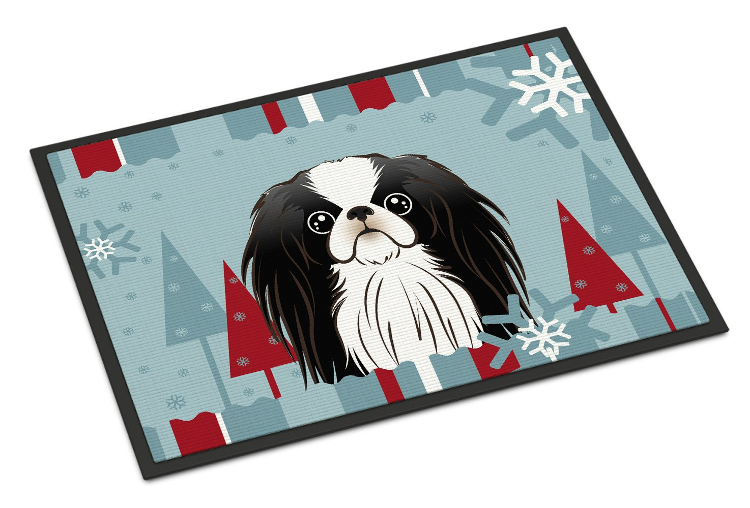 Winter Holiday Japanese Chin Indoor or Outdoor Mat 18x27 BB1726MAT by Caroline's Treasures
