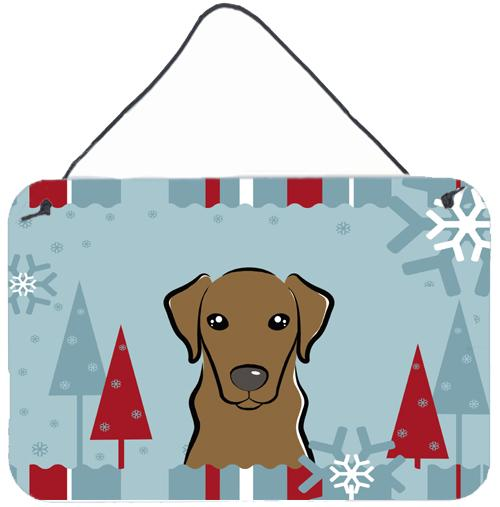 Buy this Winter Holiday Chocolate Labrador Wall or Door Hanging Prints BB1730DS812