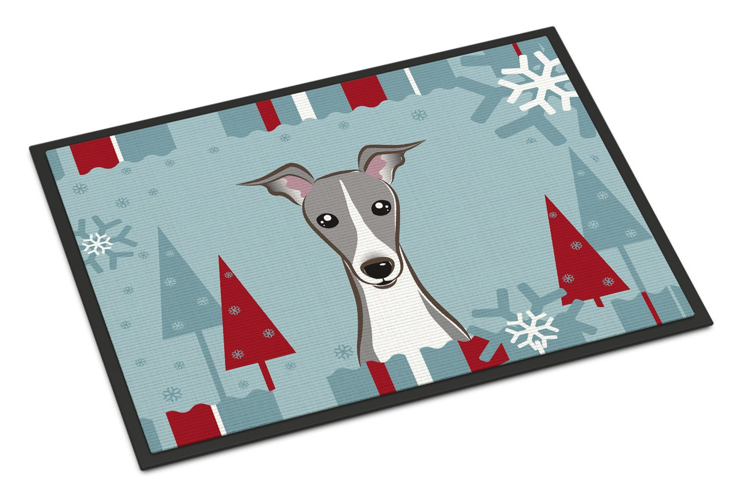 Winter Holiday Italian Greyhound Indoor or Outdoor Mat 18x27 BB1732MAT - the-store.com