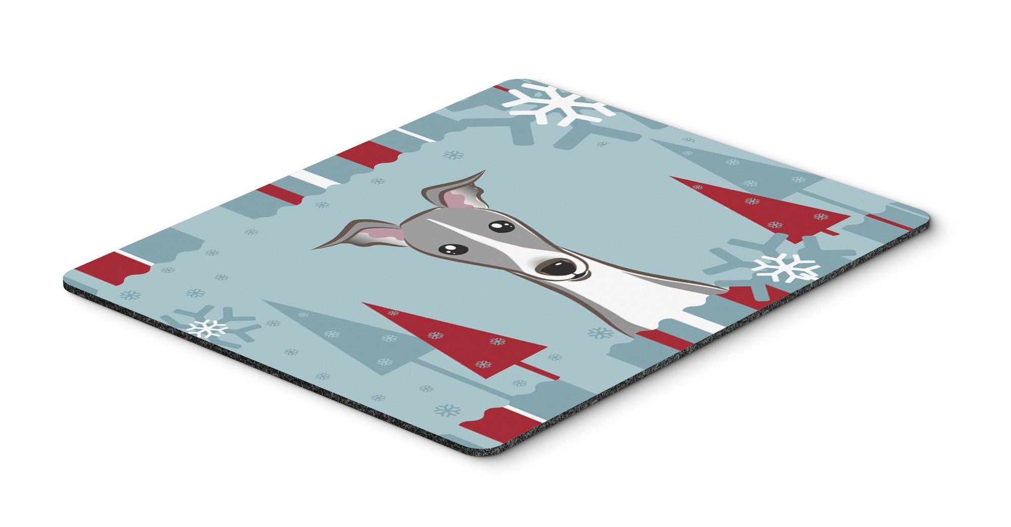 Winter Holiday Italian Greyhound Mouse Pad, Hot Pad or Trivet BB1732MP by Caroline's Treasures