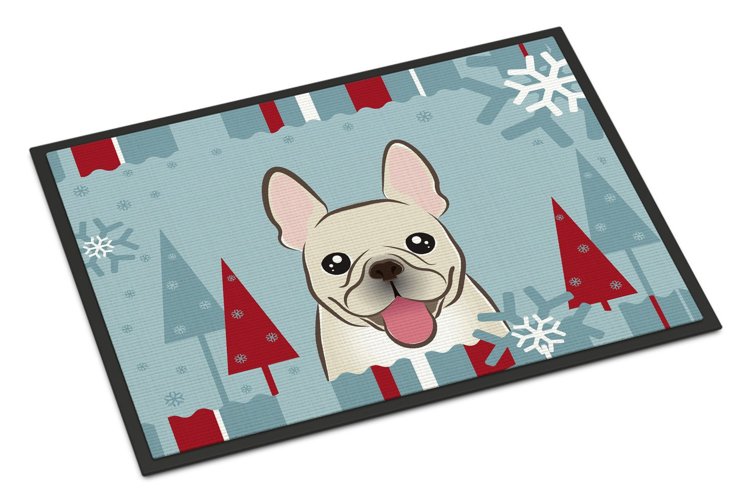 Winter Holiday French Bulldog Indoor or Outdoor Mat 18x27 BB1734MAT - the-store.com