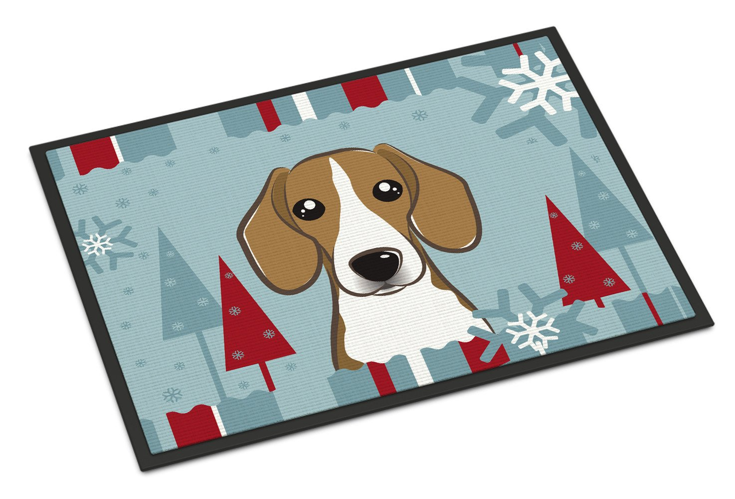 Winter Holiday Beagle Indoor or Outdoor Mat 18x27 BB1735MAT - the-store.com
