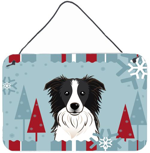 Buy this Winter Holiday Border Collie Wall or Door Hanging Prints BB1737DS812