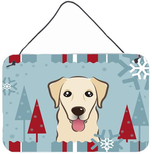 Winter Holiday Golden Retriever Wall or Door Hanging Prints BB1748DS812 by Caroline's Treasures