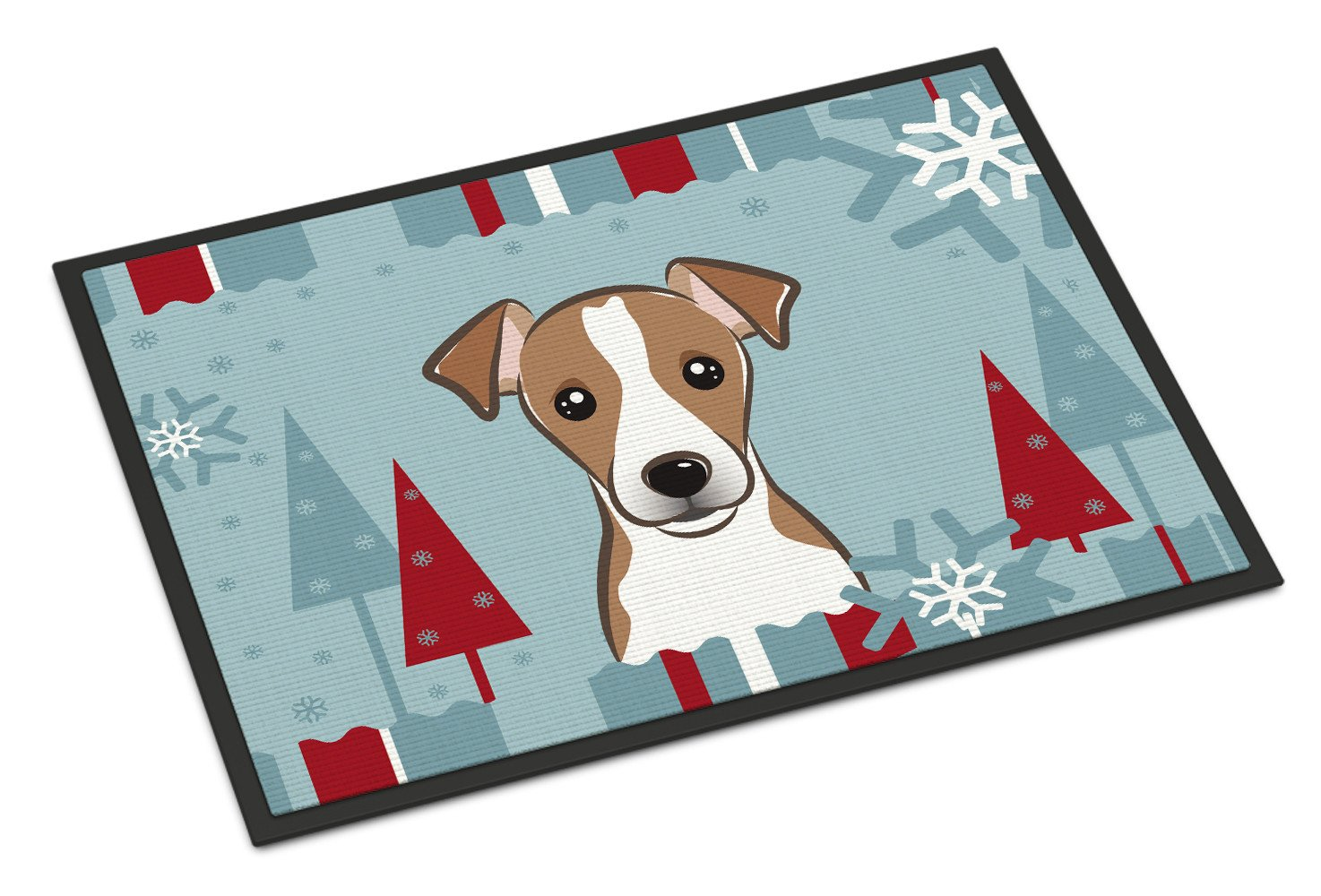 Winter Holiday Jack Russell Terrier Indoor or Outdoor Mat 18x27 BB1756MAT - the-store.com