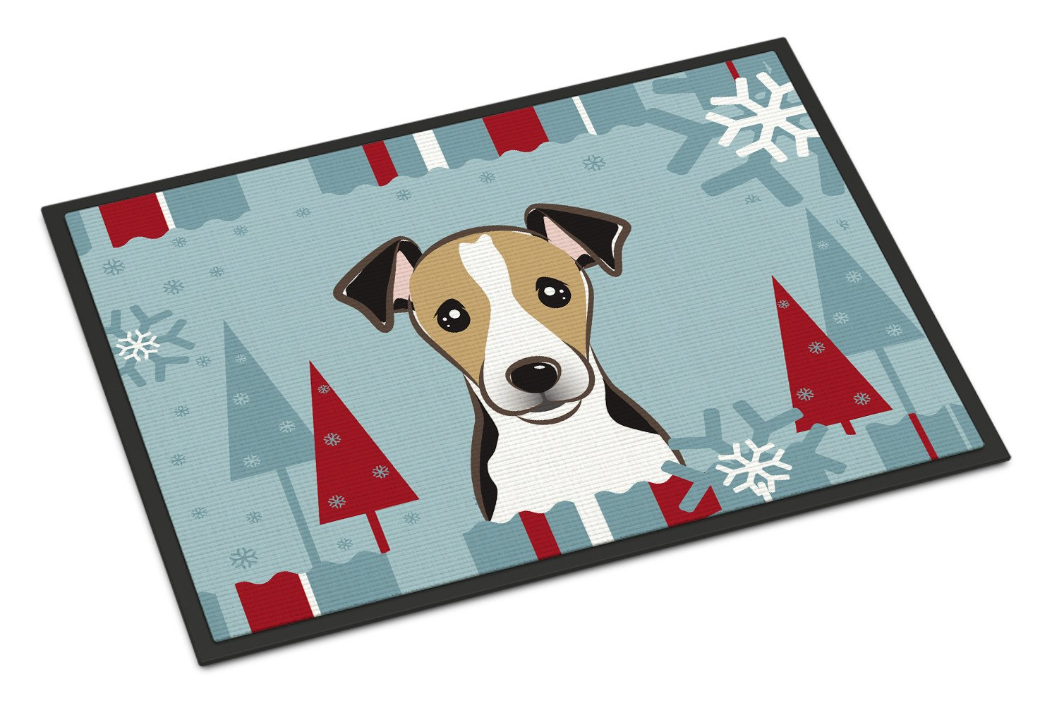 Winter Holiday Jack Russell Terrier Indoor or Outdoor Mat 18x27 BB1757MAT - the-store.com