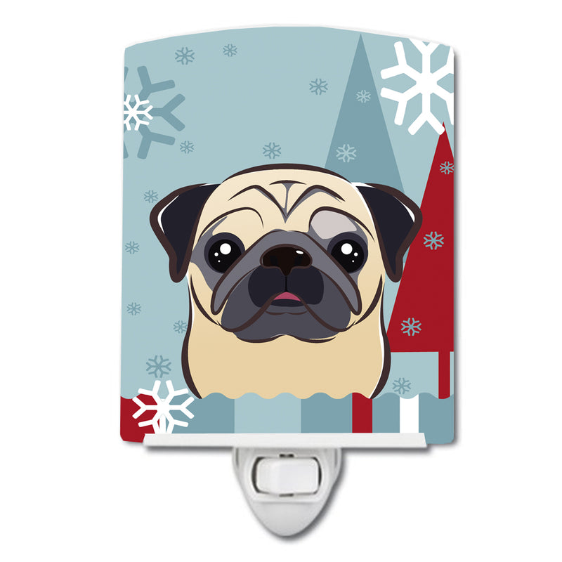 Buy this Winter Holiday Fawn Pug Ceramic Night Light BB1758CNL