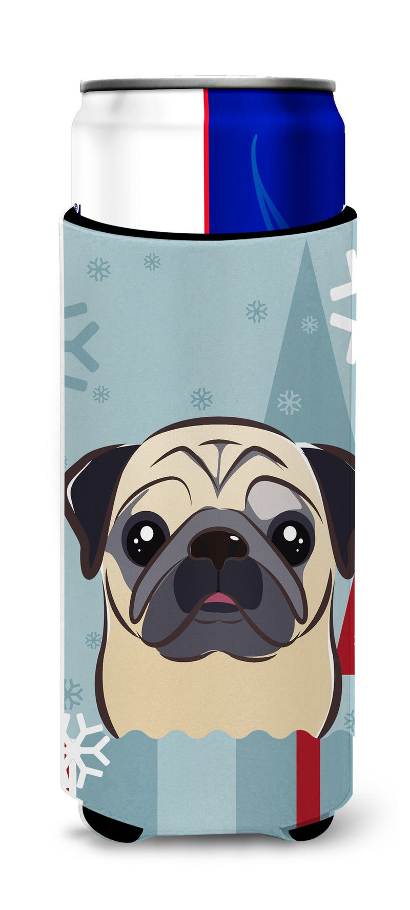 Buy this Winter Holiday Fawn Pug Ultra Beverage Insulators for slim cans BB1758MUK