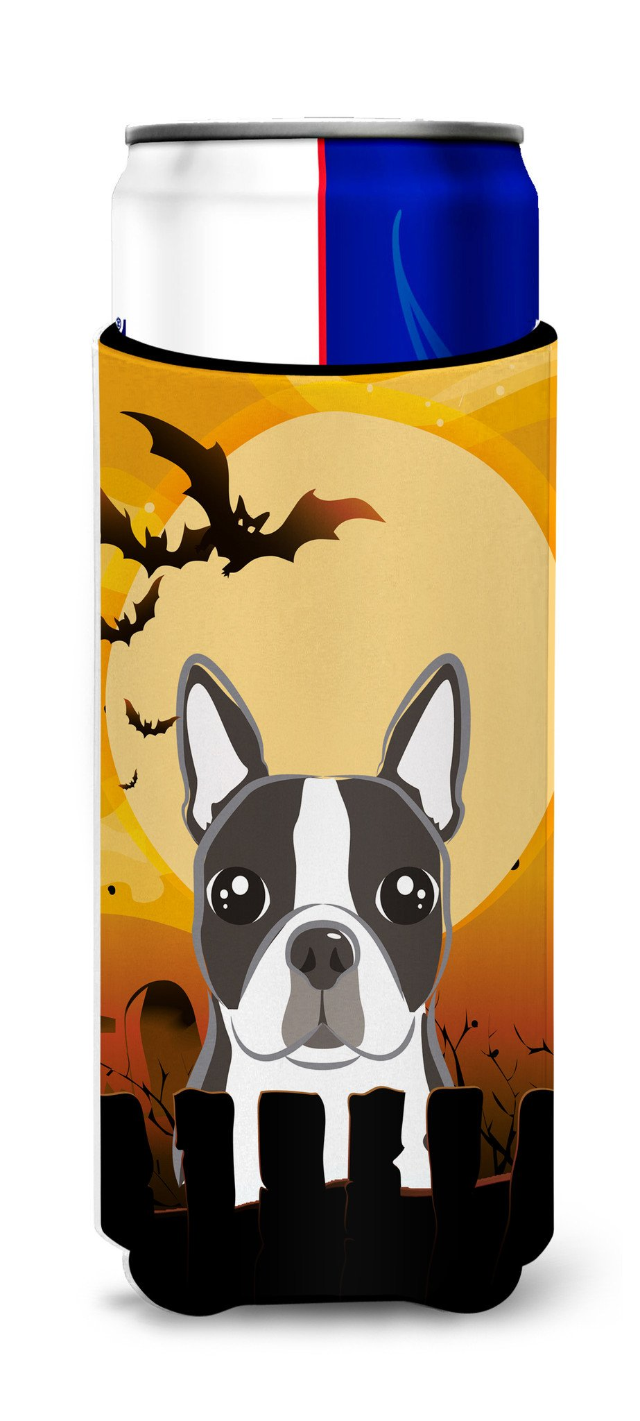 Halloween Boston Terrier Ultra Beverage Insulators for slim cans BB1761MUK by Caroline's Treasures