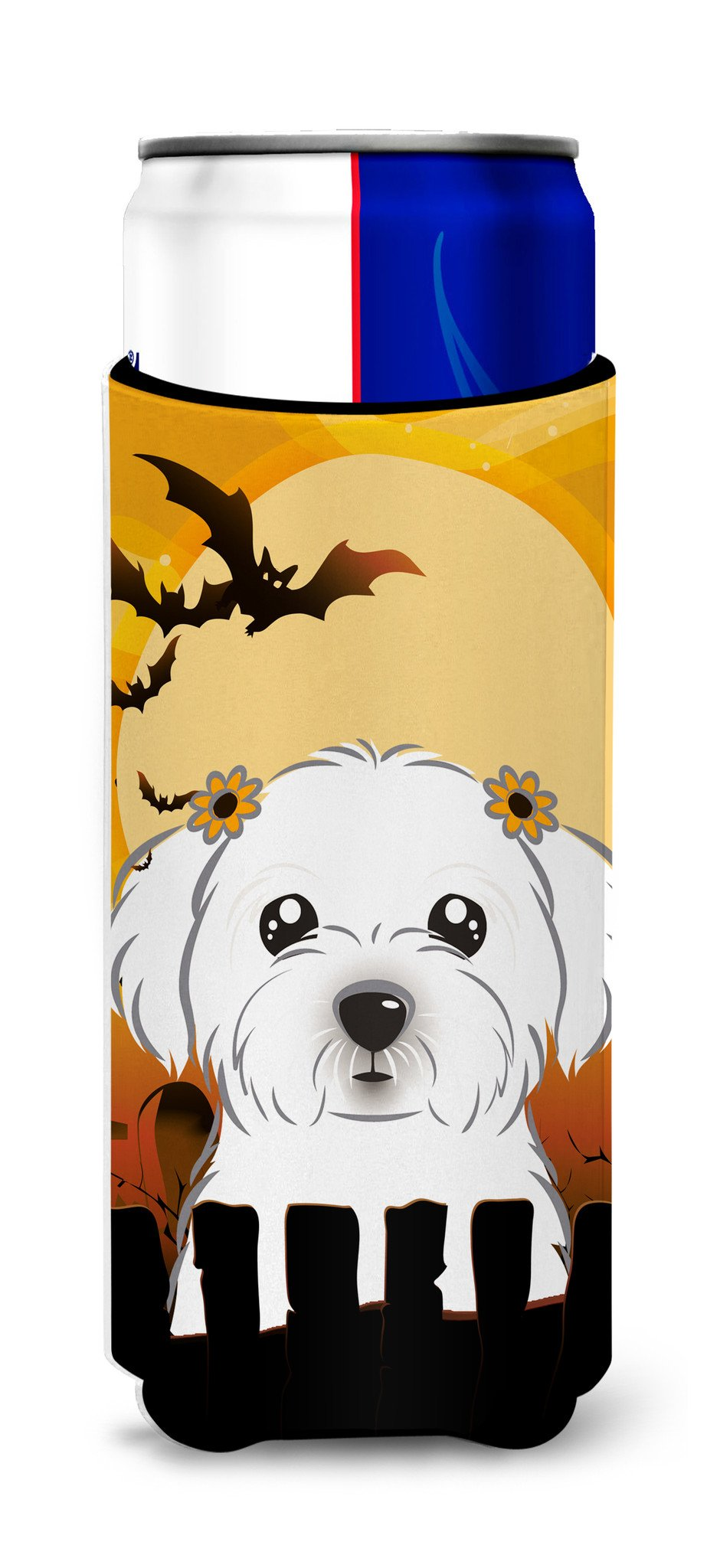 Halloween Maltese Ultra Beverage Insulators for slim cans BB1766MUK by Caroline's Treasures