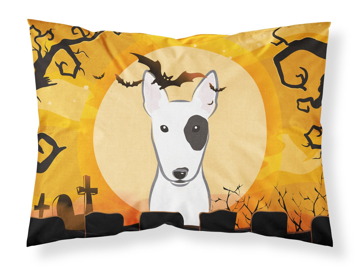Halloween Bull Terrier Fabric Standard Pillowcase BB1767PILLOWCASE by Caroline's Treasures