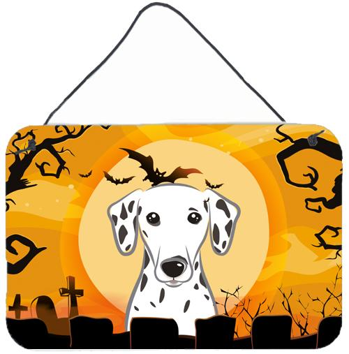 Halloween Dalmatian Wall or Door Hanging Prints BB1768DS812 by Caroline's Treasures