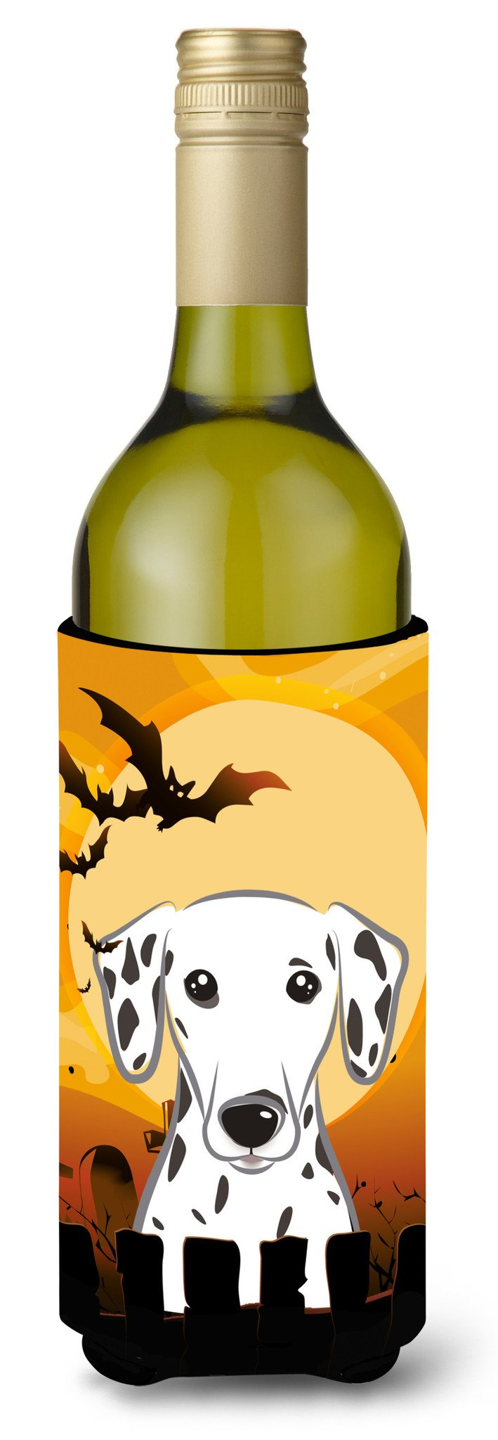 Halloween Dalmatian Wine Bottle Beverage Insulator Hugger BB1768LITERK by Caroline's Treasures