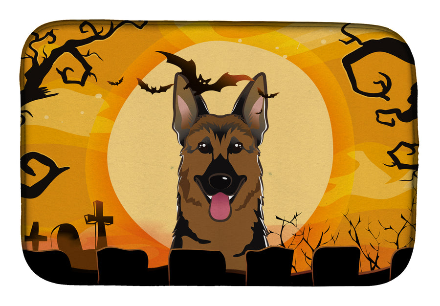 Buy this Halloween German Shepherd Dish Drying Mat BB1769DDM
