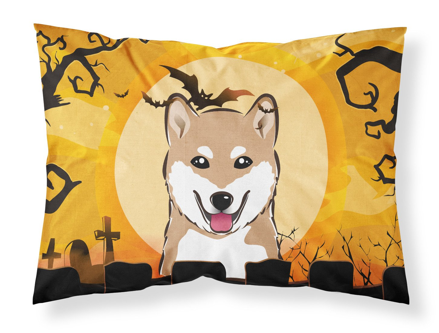 Halloween Shiba Inu Fabric Standard Pillowcase BB1783PILLOWCASE by Caroline's Treasures