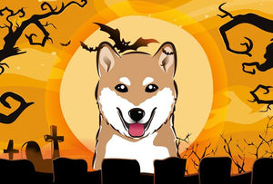 Buy this Halloween Shiba Inu Fabric Placemat BB1783PLMT
