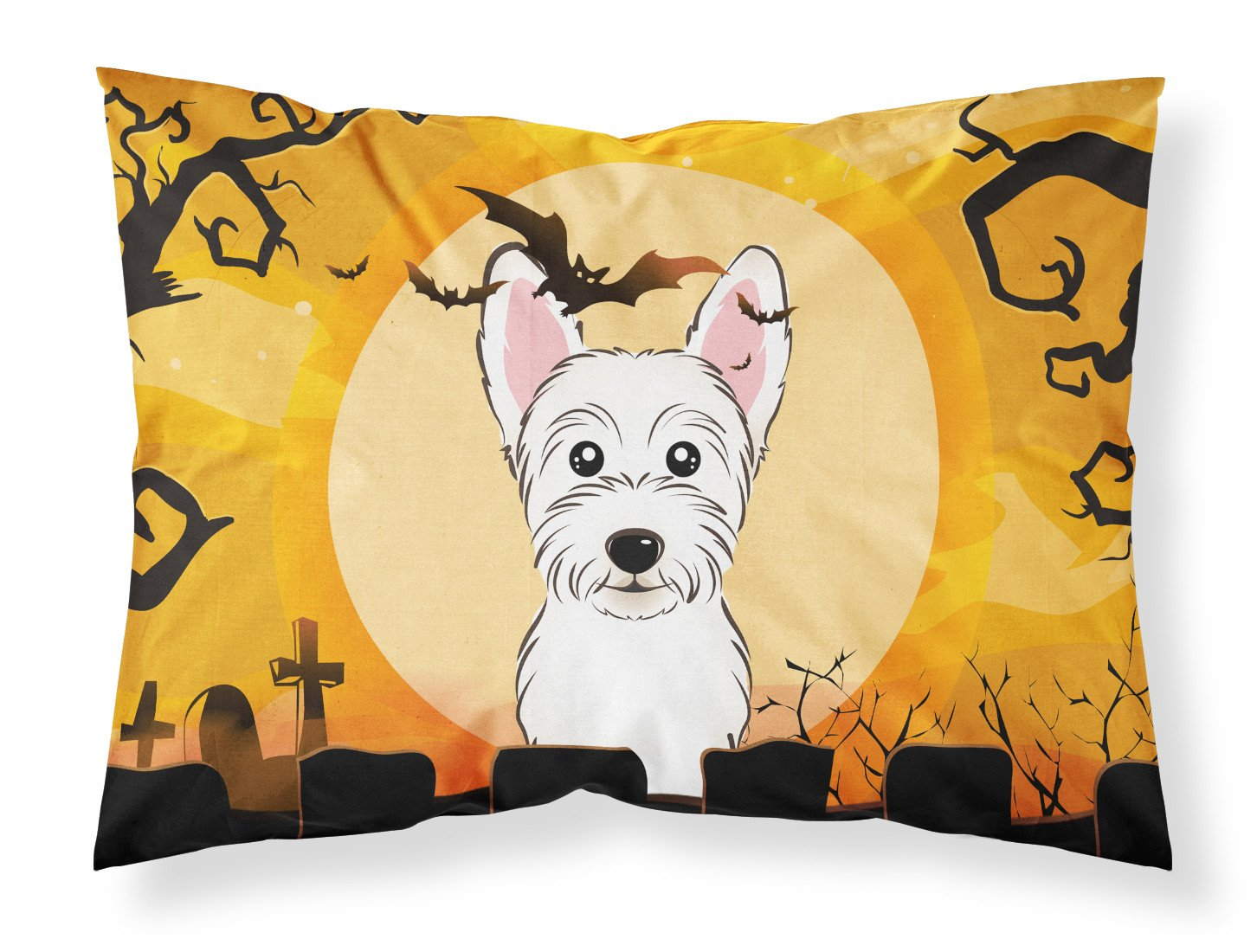 Halloween Westie Fabric Standard Pillowcase BB1784PILLOWCASE by Caroline's Treasures