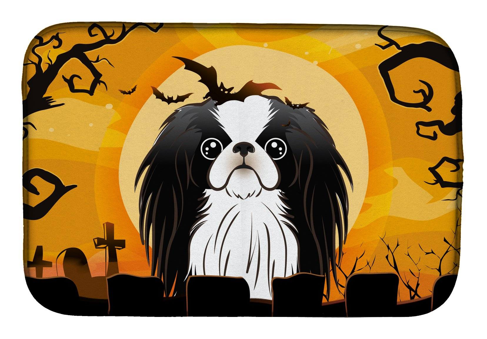 Halloween Japanese Chin Dish Drying Mat BB1788DDM by Caroline's Treasures