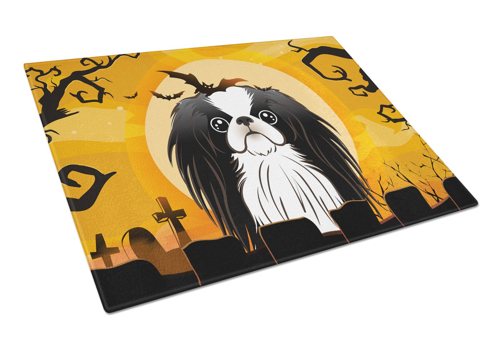 Halloween Japanese Chin Glass Cutting Board Large BB1788LCB by Caroline's Treasures
