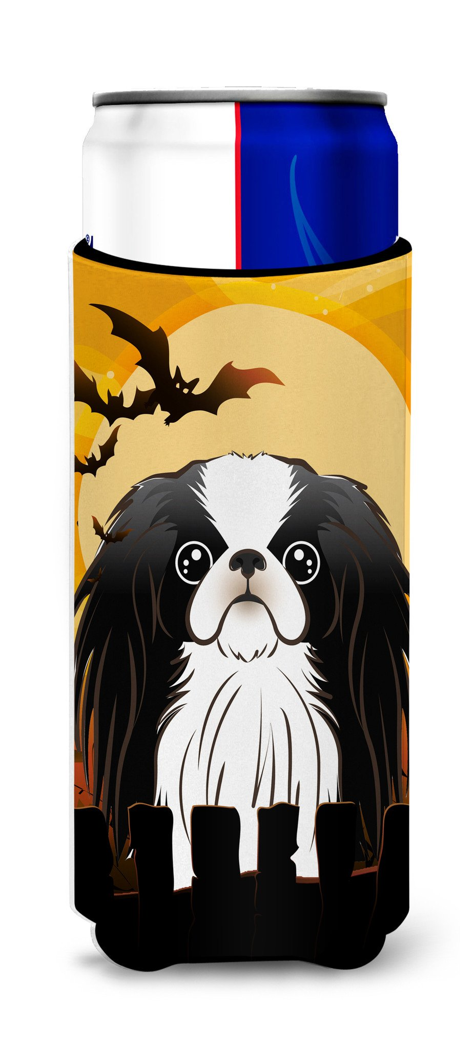 Halloween Japanese Chin Ultra Beverage Insulators for slim cans BB1788MUK by Caroline's Treasures