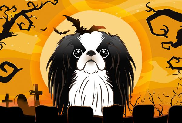 Halloween Japanese Chin Fabric Placemat BB1788PLMT by Caroline's Treasures