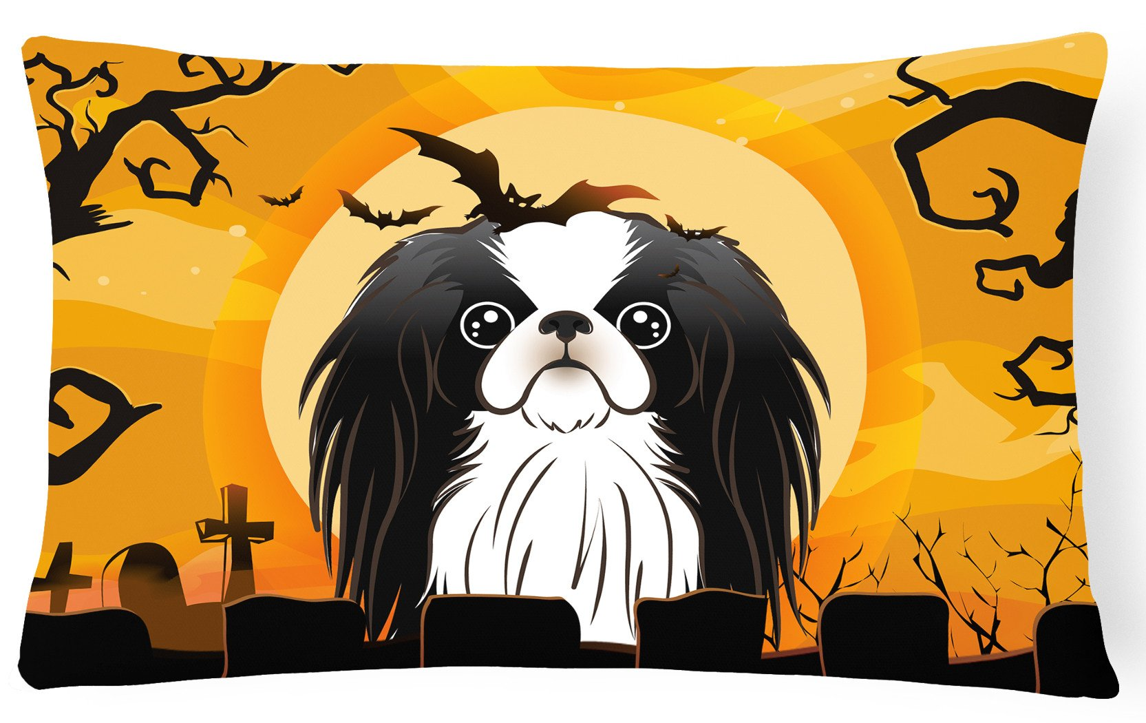 Halloween Japanese Chin Fabric Decorative Pillow BB1788PW1216 by Caroline's Treasures