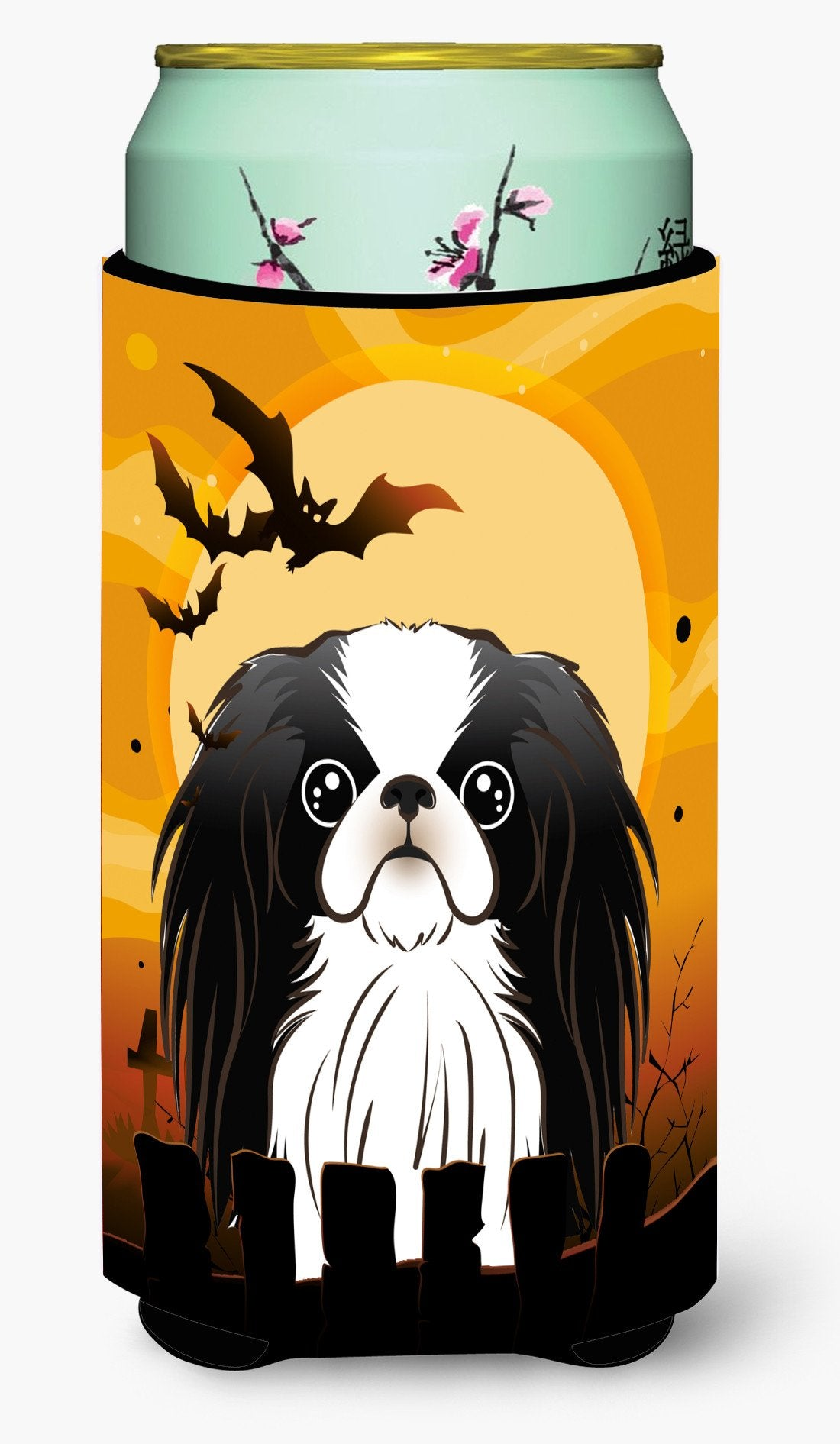 Halloween Japanese Chin Tall Boy Beverage Insulator Hugger BB1788TBC by Caroline's Treasures